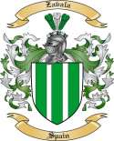 Zavala Family Crest from Spain