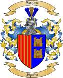 Zayas Family Crest from Spain