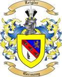 Zeigler Family Coat of Arms from Germany