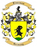 Zimeman Family Crest from Germany