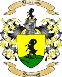 Zimerman Family Coat of Arms from Germany