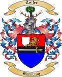 Zoller Family Crest from Germany