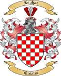 Zouhar Family Crest from Croatia