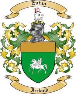 Zuinn Family Crest from Ireland