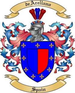 deArellano Family Crest from Spain
