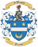deHamil Family Coat of Arms from France