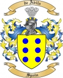 de Avila Family Coat of Arms from Spain