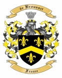 de Brousset Family Crest from France