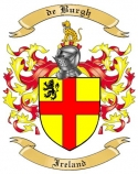 de Burgh Family Crest from Ireland