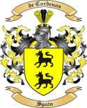 de Cardenas Family Crest from Spain