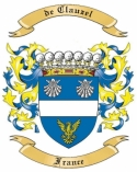 de Clauzel Family Coat of Arms from France1