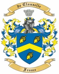 de Clauzelle Family Crest from France