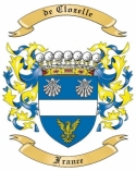 de Clozelle Family Coat of Arms from France1