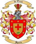 de Cruz Family Crest from Spain