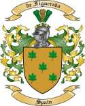 de Figueredo Family Coat of Arms from Spain