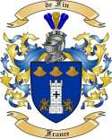 de Fin Family Coat of Arms from France