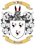 de Kok Family Crest from Holland