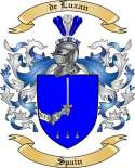 de Luxan Family Crest from Spain