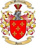 de Maldonado Family Coat of Arms from Spain