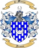 de Marca Family Coat of Arms from France