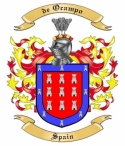 de Ocampo Family Crest from Spain