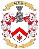 de Paris Family Crest from France2