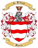 de Ribas Family Crest from Spain