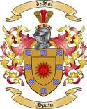 de Sol Family Coat of Arms from Spain