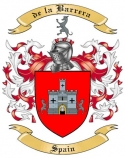 de la Barrera Family Crest from Spain