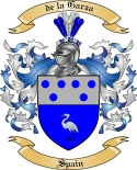 de la Garza Family Crest from Spain2