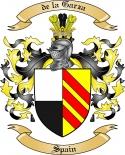 de la Garza Family Crest from Spain