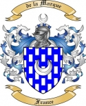 de la Marque Family Coat of Arms from France