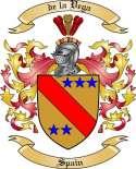 de la Vega Family Crest from Spain
