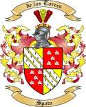 de las Torres Family Coat of Arms from Spain