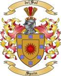 del Sol Family Crest from Spain