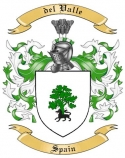 del Valle Family Crest from Spain