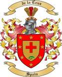 delaCruz Family Coat of Arms from Spain