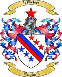 leWelere Family Crest from England