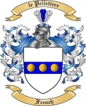 le Pelletiere Family Coat of Arms from France2