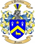 le Pelletiere Family Coat of Arms from France