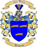 vanGrau Family Coat of Arms from Belgium