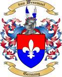 van Wesemael Family Crest from Germany