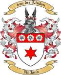 van der Linden Family Crest from Holland