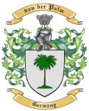 van der Palm Family Crest from Germany