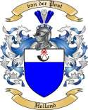van der Post Family Coat of Arms from Holland