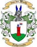 van der Wacht Family Crest from Netherlands