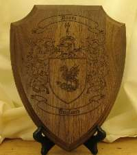 House Plaque with Coat of Arms for Home Interiors
