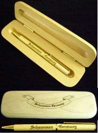 Wooden Ink Pen with Engraved Wood Case 2