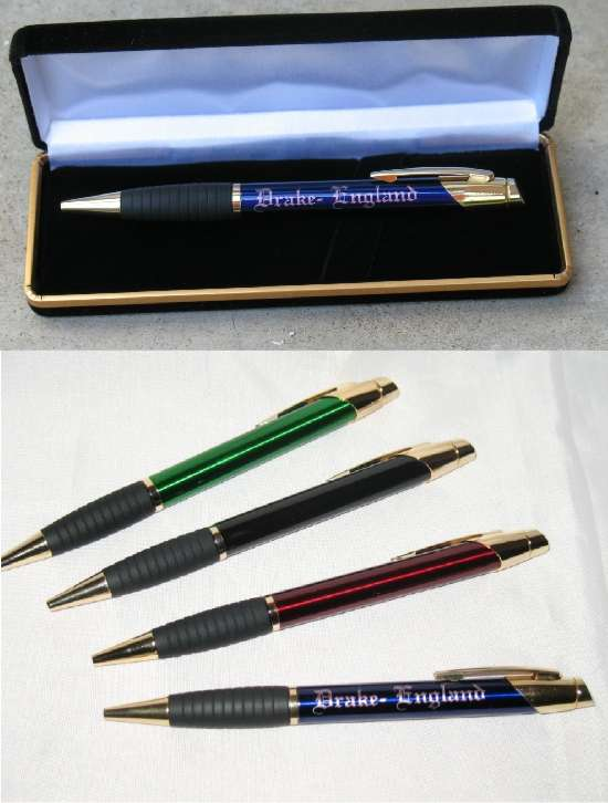 Custom Ink Pens - Engraved Pen with Case