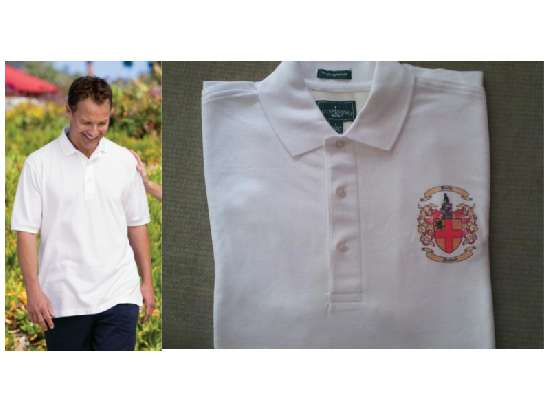 Short Sleeve Egyptian Polo/Golf Shirts with Coat of Arms